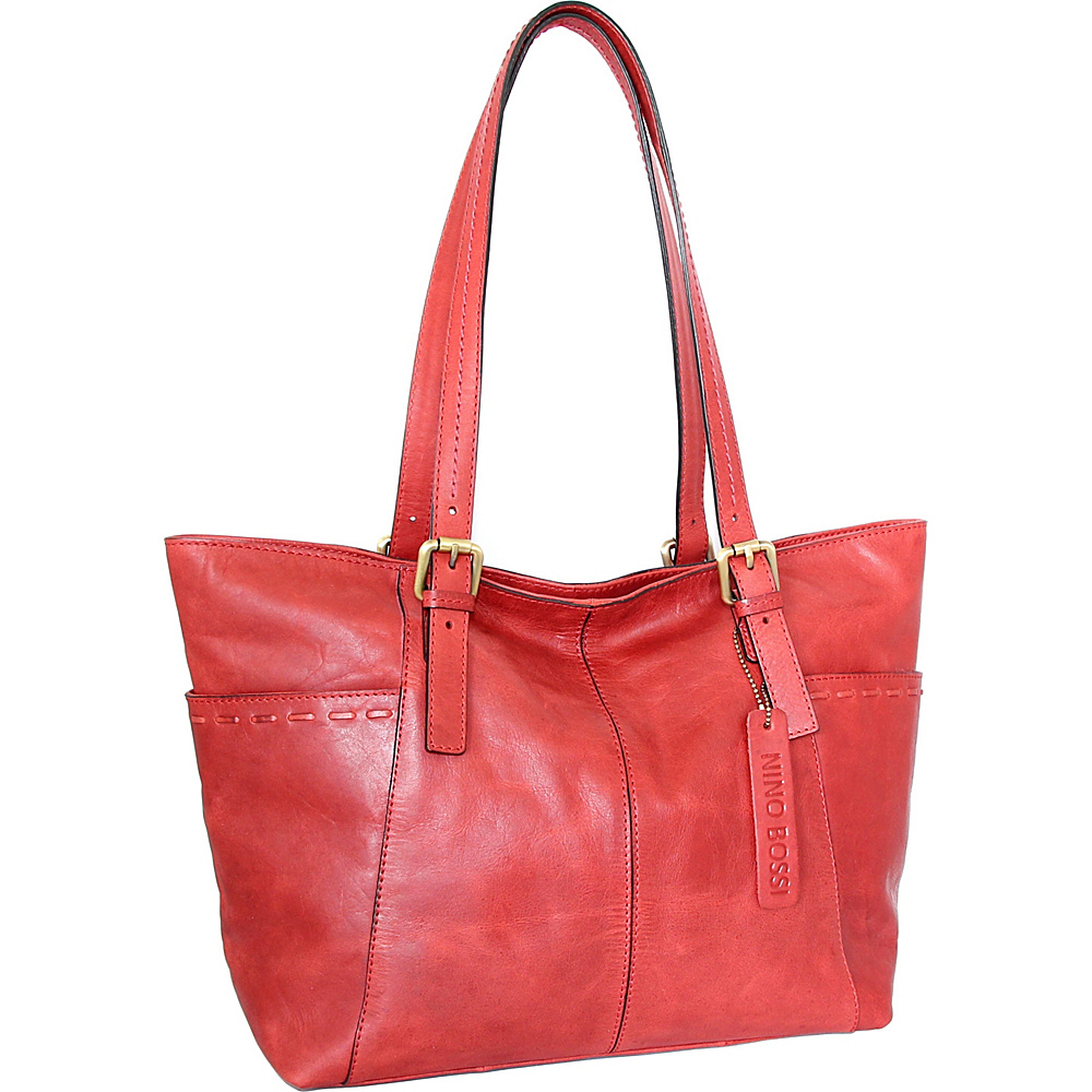 Nino Bossi Olivia Tote Red - Nino Bossi Leather Handbags - Handbags, Leather Handbags