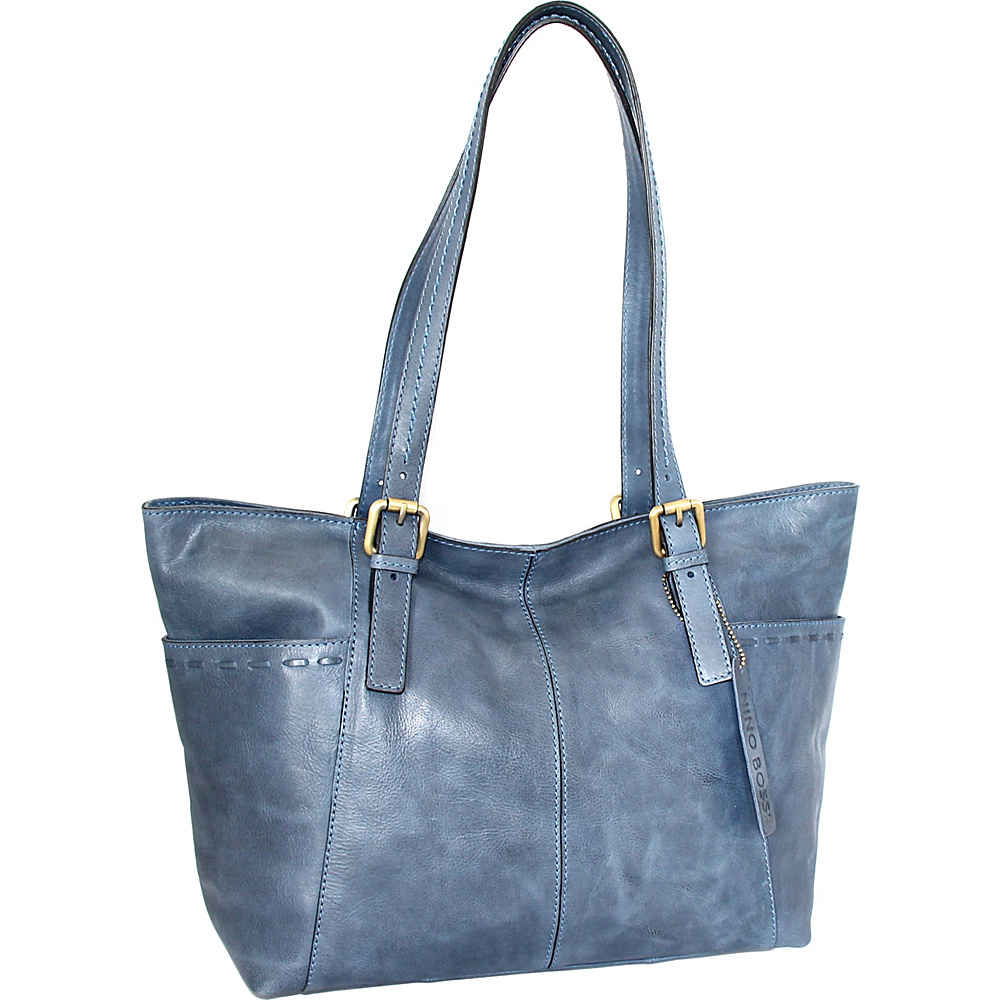 Nino Bossi Olivia Tote Denim - Nino Bossi Leather Handbags - Handbags, Leather Handbags