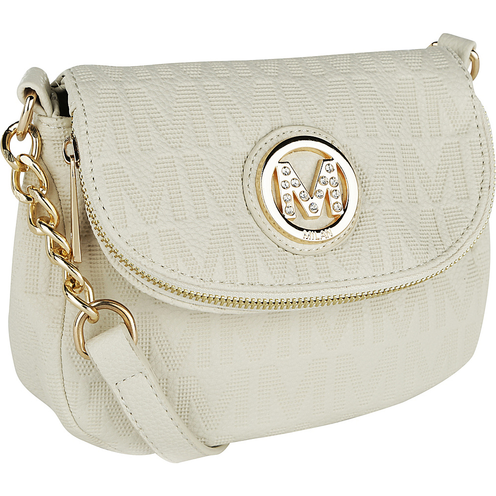 MKF Collection by Mia K. Farrow Cassidy M Signature Crossbody Beige - MKF Collection by Mia K. Farrow Fabric Handbags - Handbags, Fabric Handbags