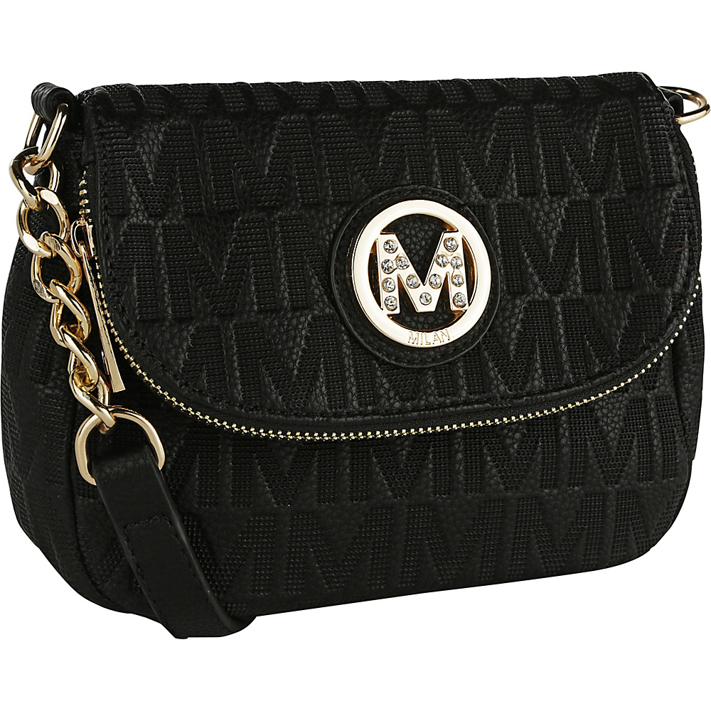 MKF Collection by Mia K. Farrow Cassidy M Signature Crossbody Black - MKF Collection by Mia K. Farrow Fabric Handbags - Handbags, Fabric Handbags