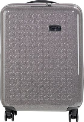 Dot Drops Chapter 3 22 inch Hardside Carry-On Spinner Luggage Grey - Dot Drops Hardside Carry-On