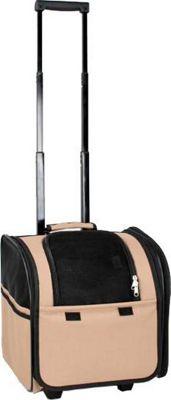 Petlife Wheeled Travel Pet Carrier Brown - Pet Life Pet Bags