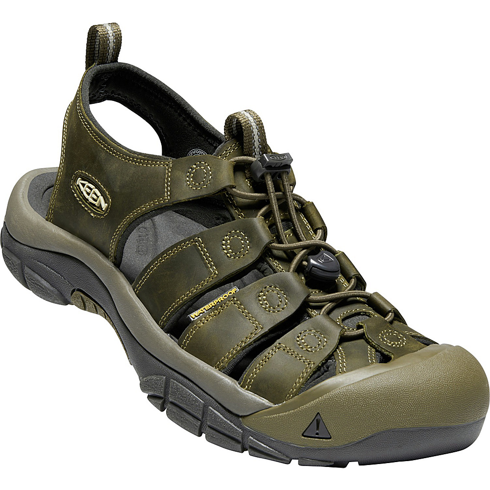 KEEN Mens Newport Evo Sandals 9 - Fairway/Dark Olive - KEEN Mens Footwear - Apparel & Footwear, Men's Footwear