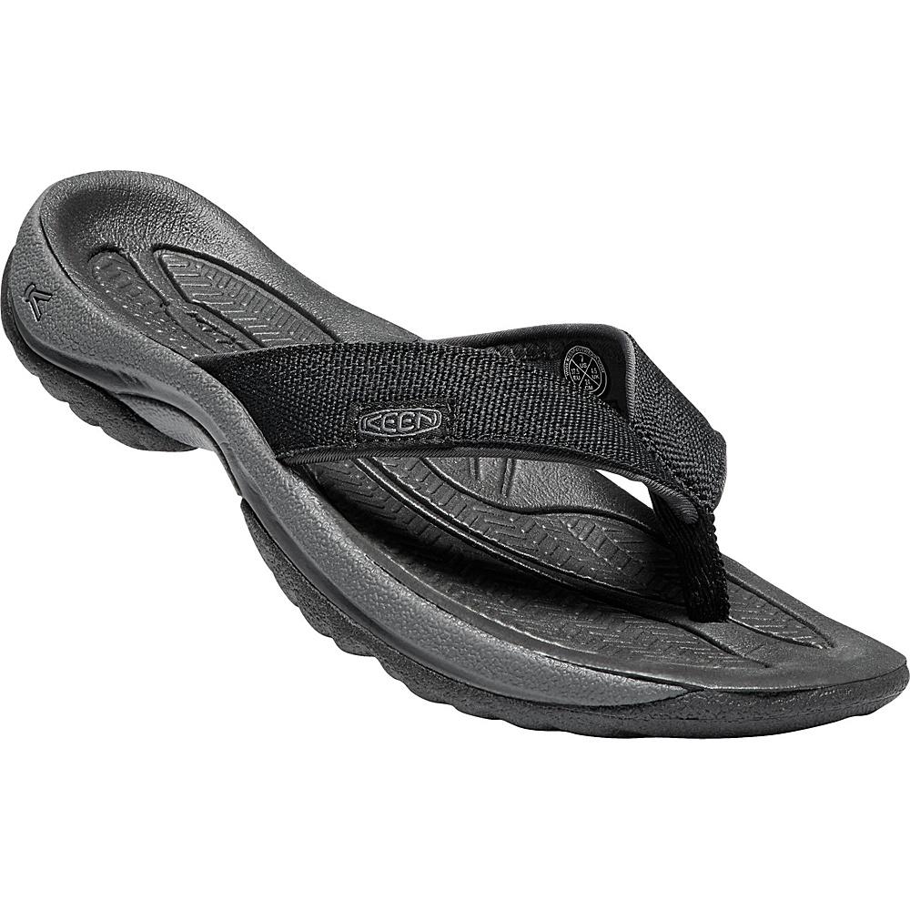 KEEN Womens Kona Flip Sandals 9 - Black/Magnet - KEEN Womens Footwear - Apparel & Footwear, Women's Footwear