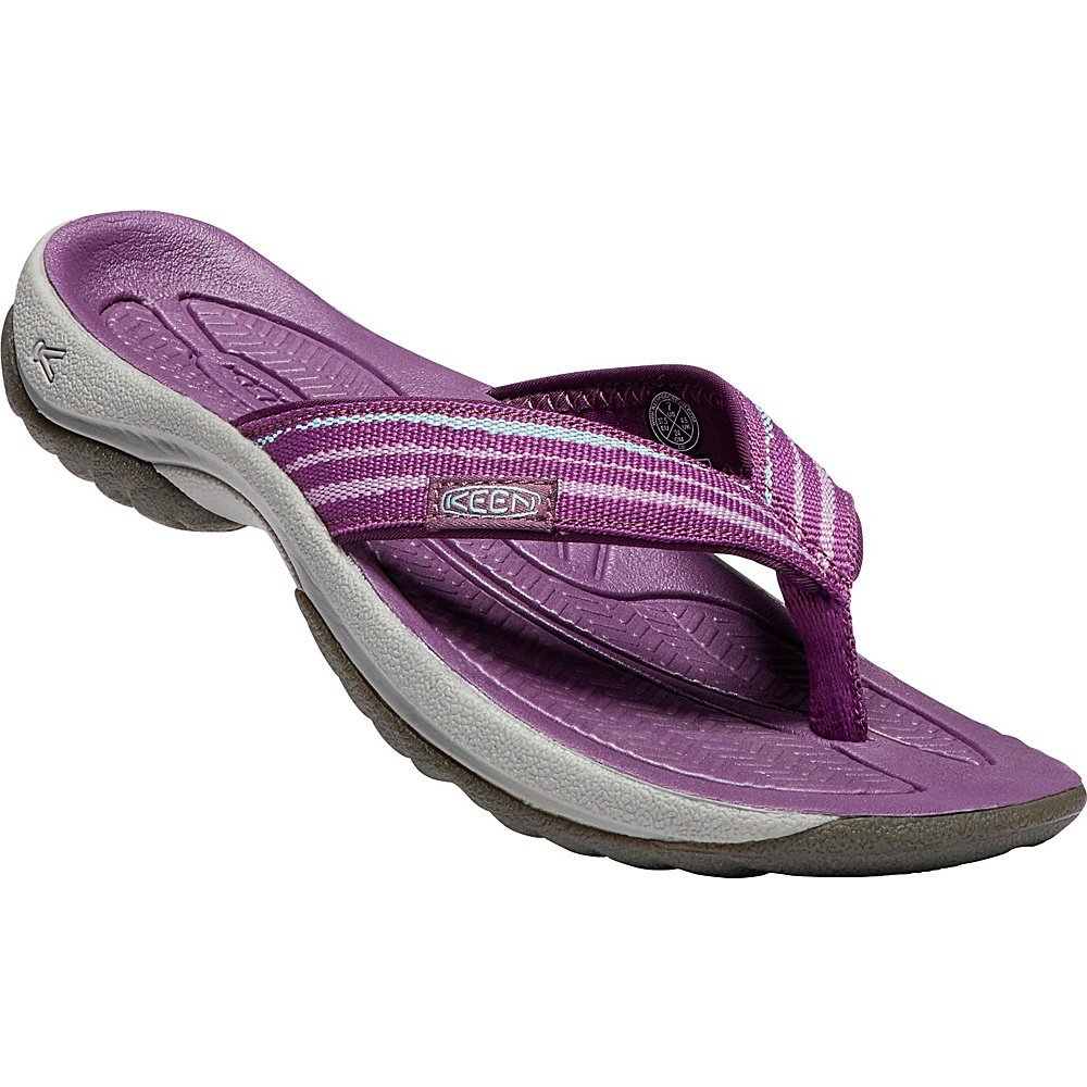 KEEN Womens Kona Flip Sandals 9.5 - Grape Kiss/Grape Wine - KEEN Womens Footwear - Apparel & Footwear, Women's Footwear