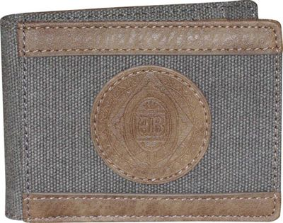Budweiser Eagle Wings Slimfold Wallet with Clip Grey - Budweiser Men's Wallets