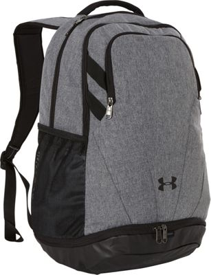 Under Armour Team Hustle 3.0 Backpack Graphite Medium Heather/Black/White - Under Armour Everyday Backpacks