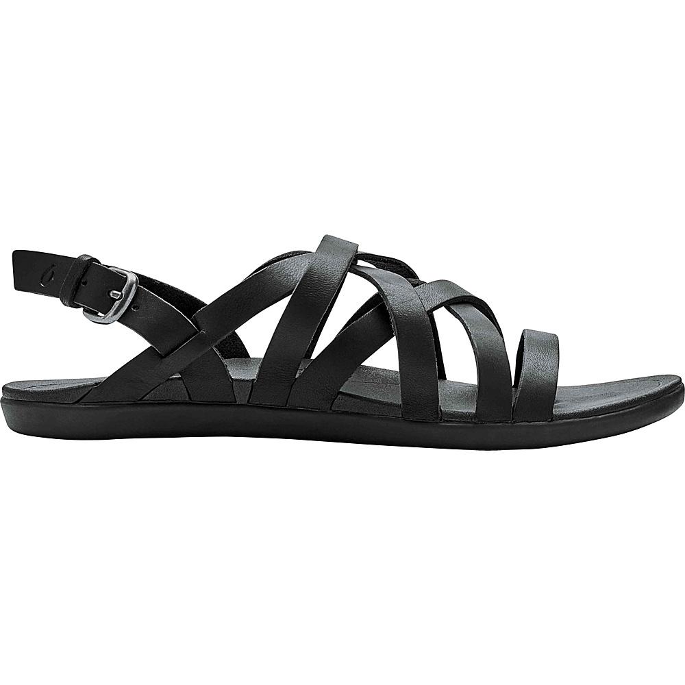 OluKai Womens Awe Awe Sandal 5 - Black/Black - OluKai Womens Footwear - Apparel & Footwear, Women's Footwear