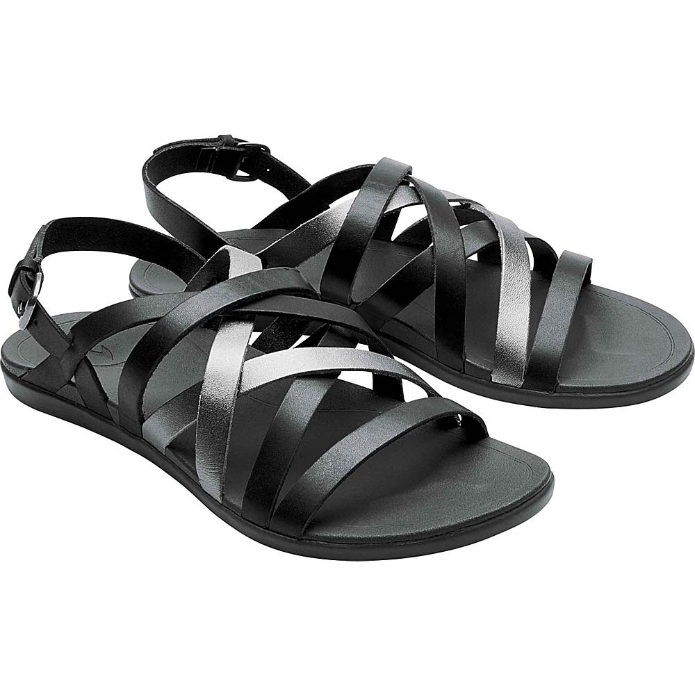 OluKai Womens Awe Awe Sandal 6 - Dark Shadow/Pewter - OluKai Womens Footwear - Apparel & Footwear, Women's Footwear