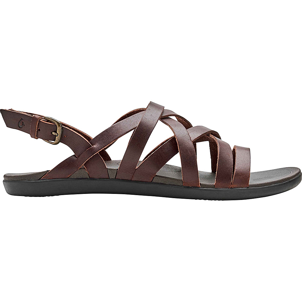 OluKai Womens Awe Awe Sandal 5 - Dark Java/Dark Java - OluKai Womens Footwear - Apparel & Footwear, Women's Footwear