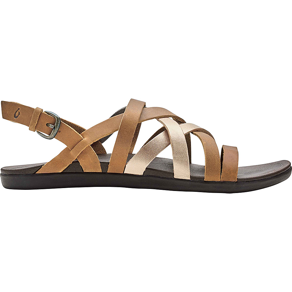 OluKai Womens Awe Awe Sandal 7 - Sahara/Bubbly - OluKai Womens Footwear - Apparel & Footwear, Women's Footwear