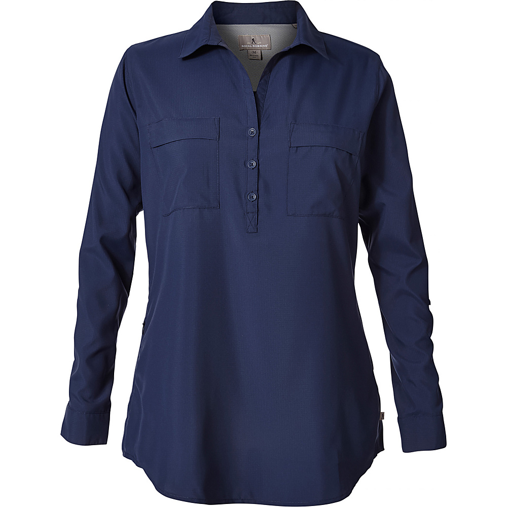 Royal Robbins Womens Bug Barrier Expedition Tunic S - Deep Blue - Royal Robbins Womens Apparel - Apparel & Footwear, Women's Apparel