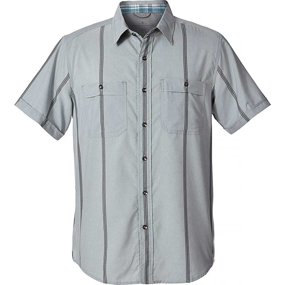 Royal Robbins Mens Vista Dry Short Sleeve XL - Light Pewter - Royal Robbins Mens Apparel - Apparel & Footwear, Men's Apparel
