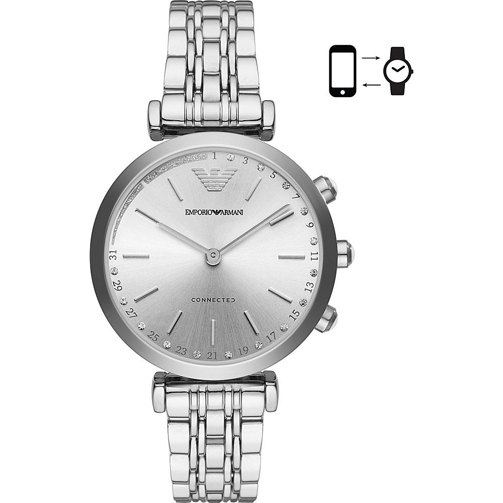 Emporio Armani Connected Womens Hybrid Smartwatch Silver - Emporio Armani Wearable Technology