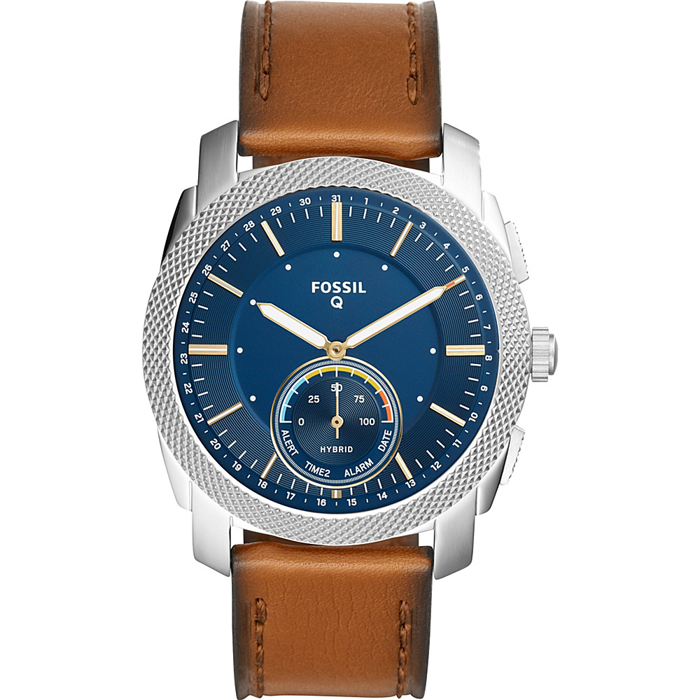 Fossil Q Machine Brown Leather Hybrid Smartwatch Brown - Fossil Wearable Technology - Technology, Wearable Technology