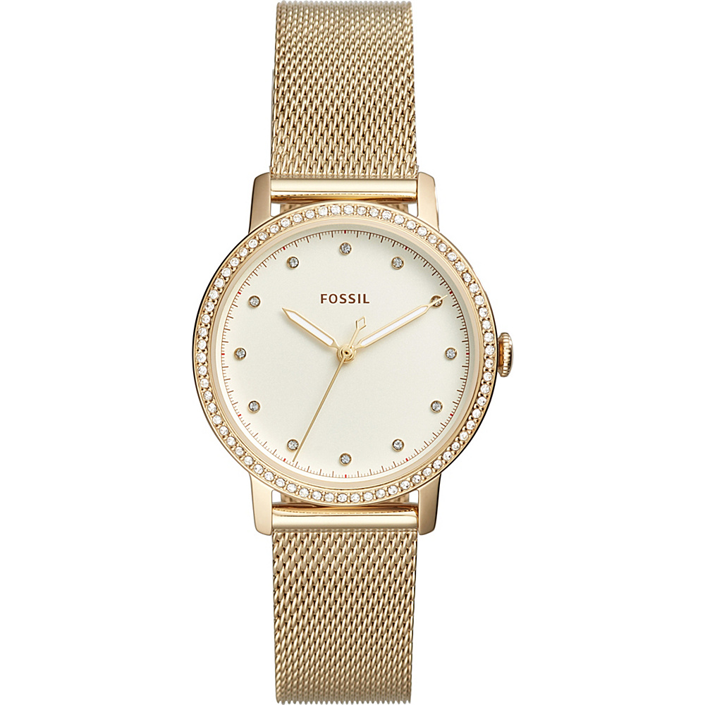 Fossil Neely Three-Hand Gold-Tone Stainless Steel Watch Gold - Fossil Watches - Fashion Accessories, Watches