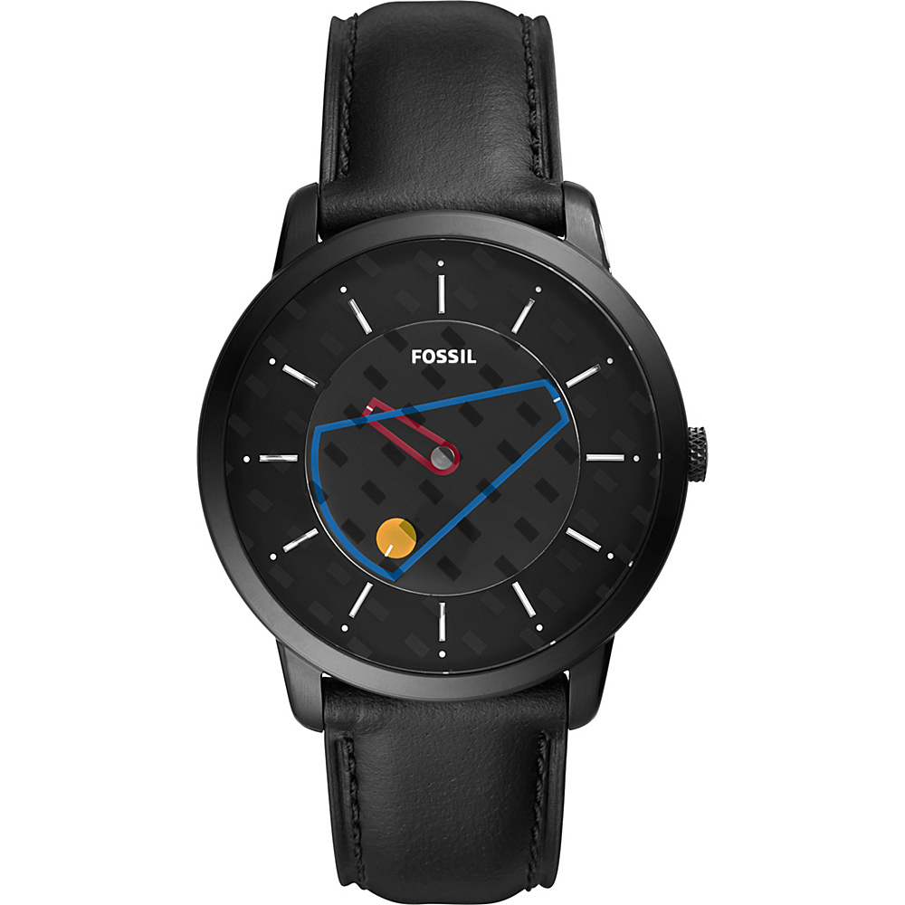 Fossil The Minimalist Three-Hand Black Leather Watch Black - Fossil Watches - Fashion Accessories, Watches