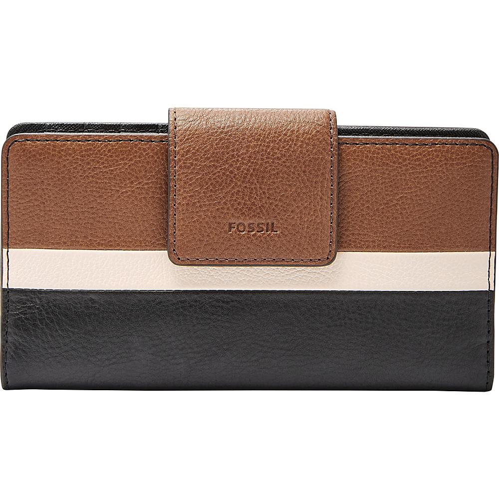 Fossil Emma RFID Tab Clutch Neutral Multi - Fossil Womens Wallets - Women's SLG, Women's Wallets