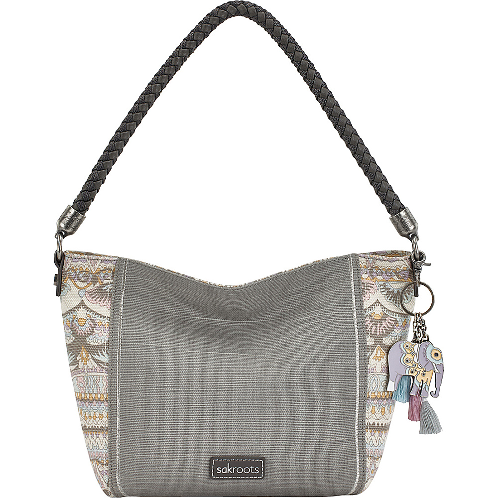 Sakroots Elsa Small Hobo Pastel One World - Sakroots Fabric Handbags - Handbags, Fabric Handbags