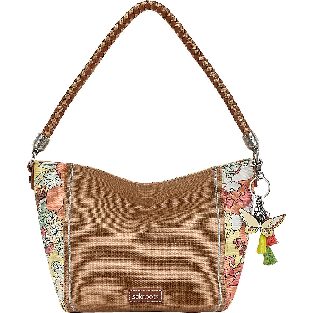 Sakroots Elsa Small Hobo Sunlight Flower Power - Sakroots Fabric Handbags - Handbags, Fabric Handbags