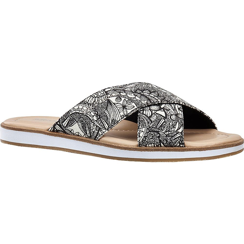 Sakroots Womens Calypso Platform Sandal 7 - Black & White Spirit Desert - Sakroots Womens Footwear - Apparel & Footwear, Women's Footwear