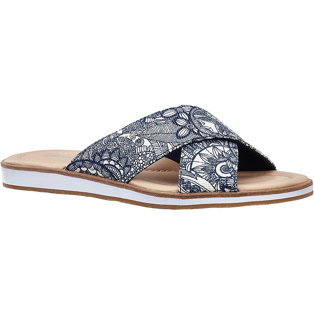 Sakroots Womens Calypso Platform Sandal 7 - Navy Spirit Desert - Sakroots Womens Footwear - Apparel & Footwear, Women's Footwear