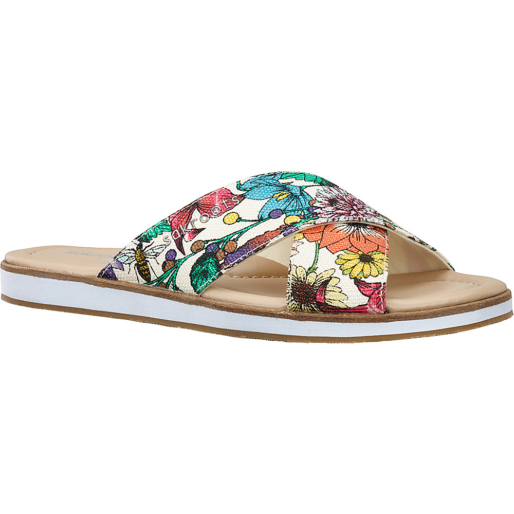 Sakroots Womens Calypso Platform Sandal 10 - Optic In Bloom - Sakroots Womens Footwear - Apparel & Footwear, Women's Footwear