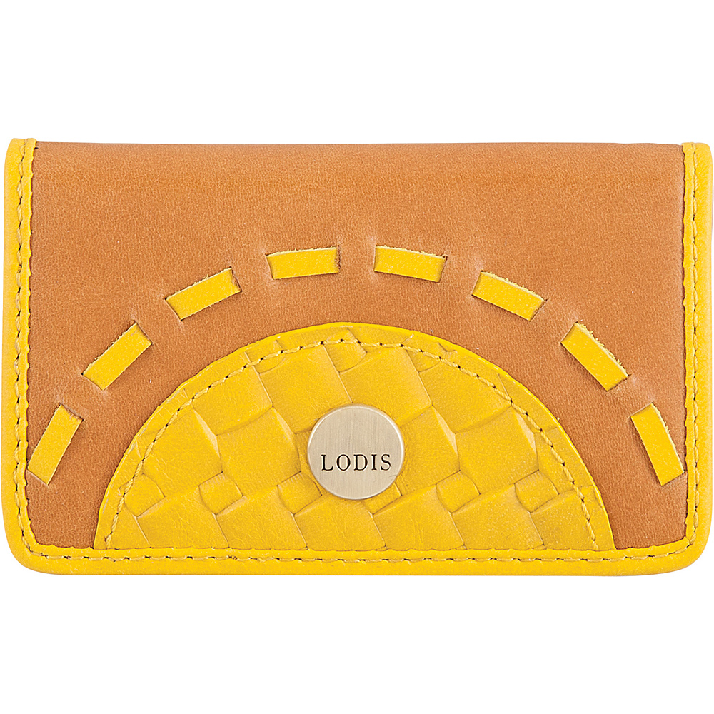 Lodis Rodeo Woven RFID Mini Card Case Yellow - Lodis Business Accessories - Work Bags & Briefcases, Business Accessories