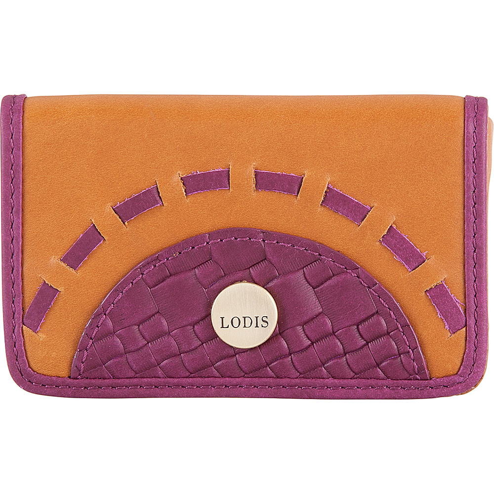 Lodis Rodeo Woven RFID Mini Card Case Purple - Lodis Business Accessories - Work Bags & Briefcases, Business Accessories