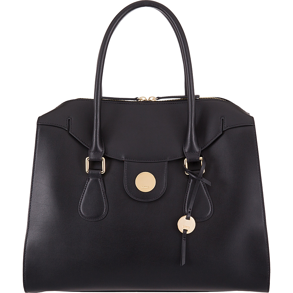 Lodis Rodeo RFID Gwyneth Zip Top Tote Black - Lodis Leather Handbags - Handbags, Leather Handbags