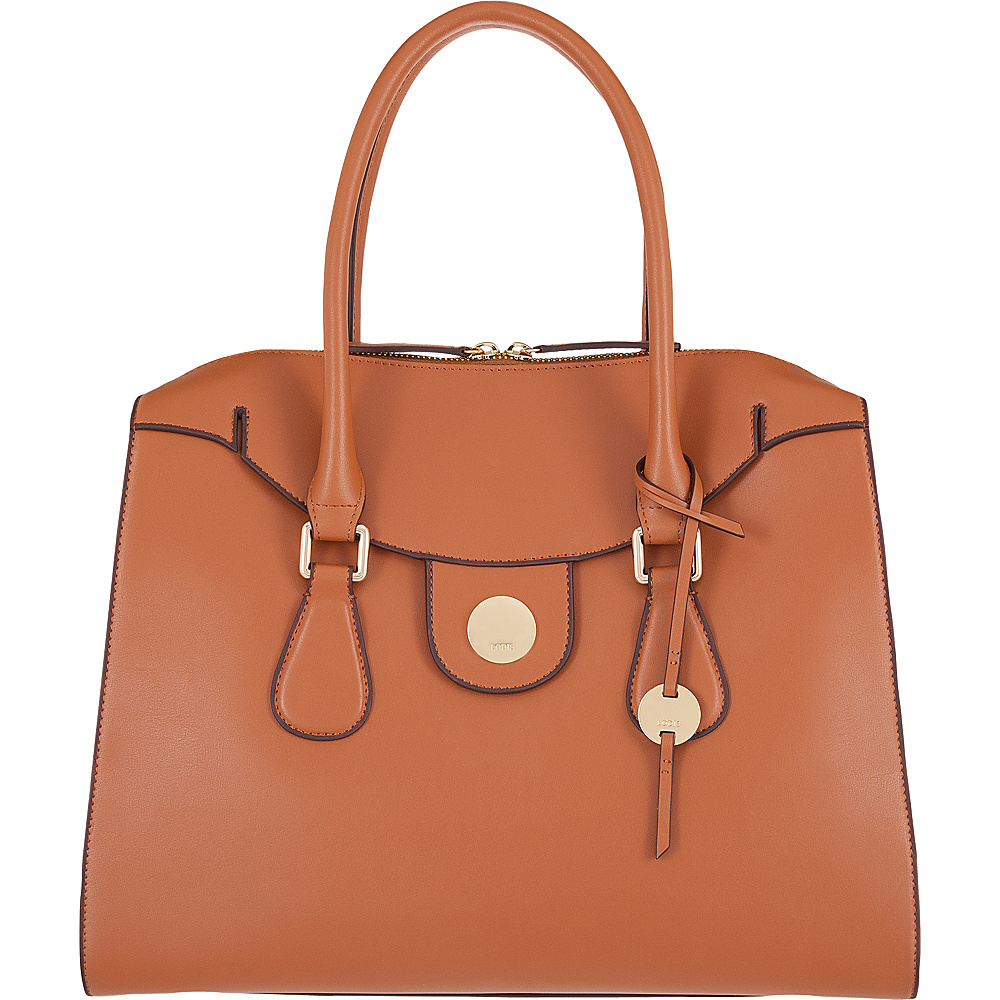 Lodis Rodeo RFID Gwyneth Zip Top Tote Toffee - Lodis Leather Handbags - Handbags, Leather Handbags