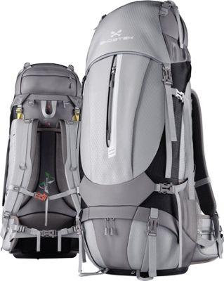 Ghostek NRGcamper Hiking Camping Backpack + 11W Solar Panel Grey - Ghostek Day Hiking Backpacks