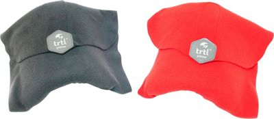Trtl Travel Pillow Bundle - EXCLUSIVE Grey and Red - Trtl Travel Pillows & Blankets