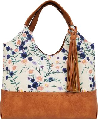Bueno Canvas Tote Blush Lilac Floral - Bueno Fabric Handbags