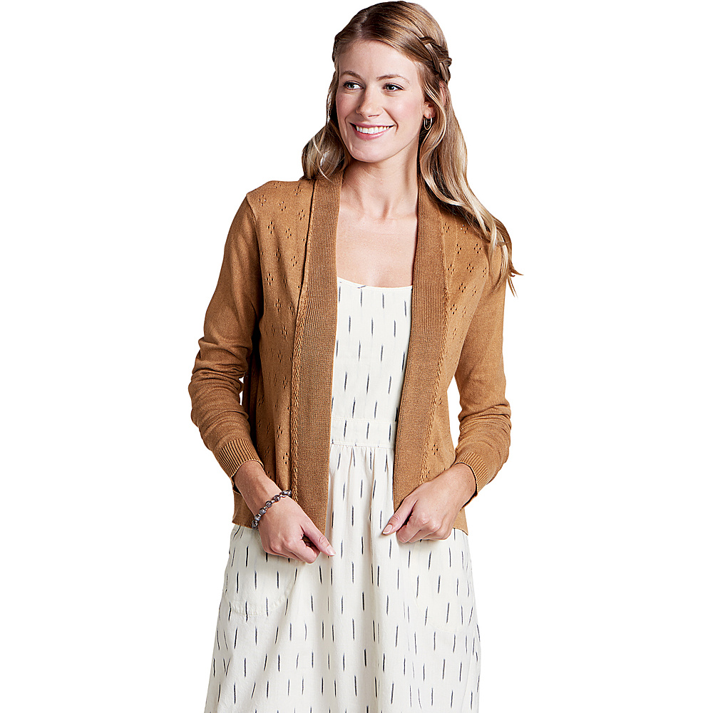 Toad & Co Womens Woodstock Cardigan M - Tabac - Toad & Co Womens Apparel - Apparel & Footwear, Women's Apparel