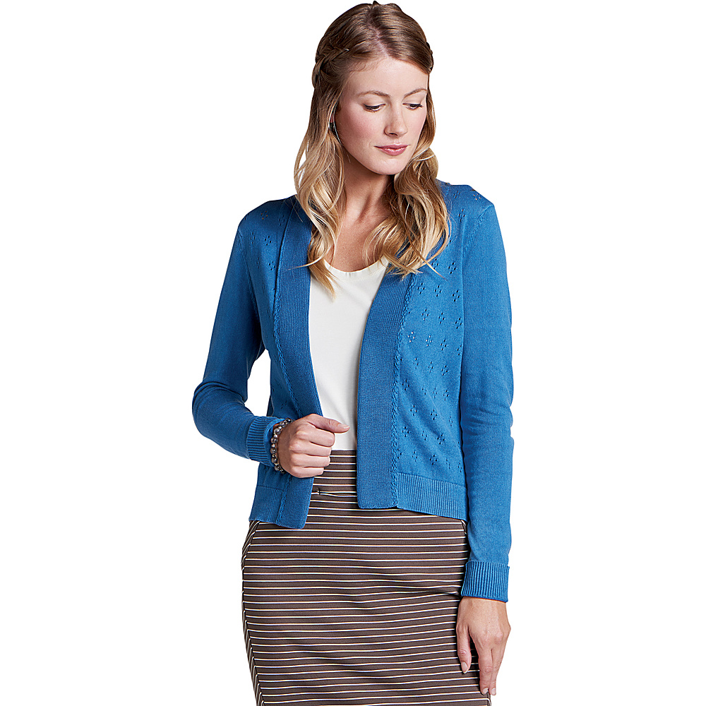 Toad & Co Womens Woodstock Cardigan S - Bright Indigo - Toad & Co Womens Apparel - Apparel & Footwear, Women's Apparel