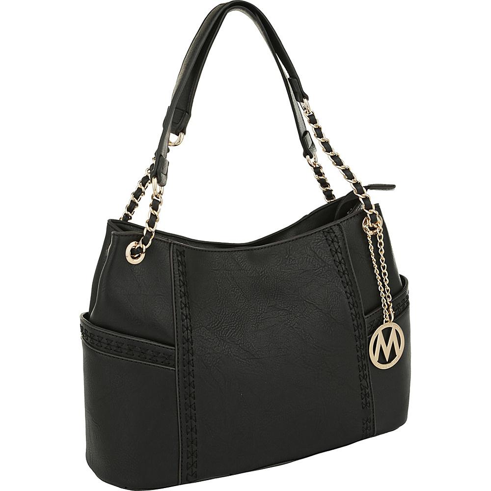 MKF Collection by Mia K. Farrow Britny Shoulder Bag Black - MKF Collection by Mia K. Farrow Manmade Handbags - Handbags, Manmade Handbags