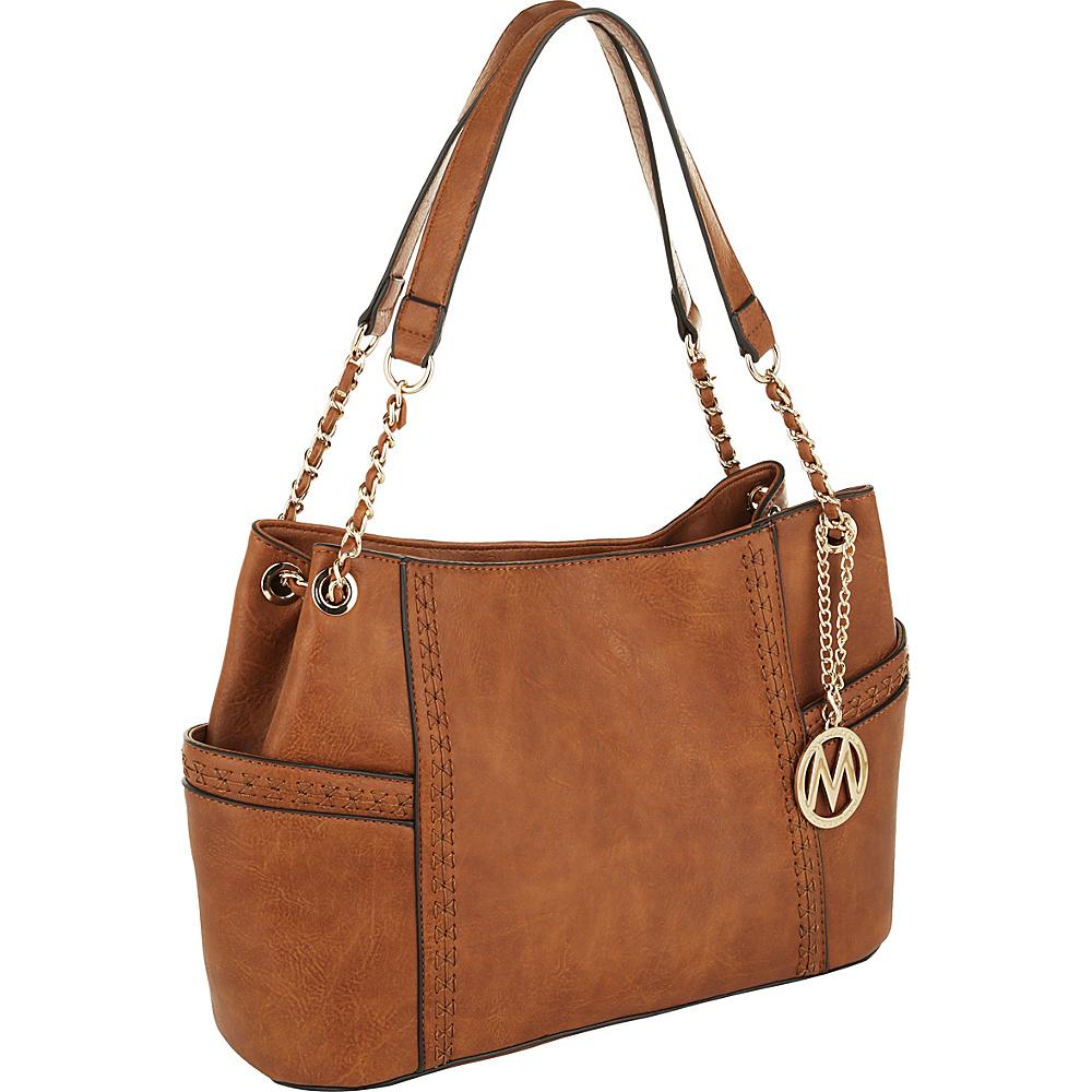 MKF Collection by Mia K. Farrow Britny Shoulder Bag Brown - MKF Collection by Mia K. Farrow Manmade Handbags - Handbags, Manmade Handbags