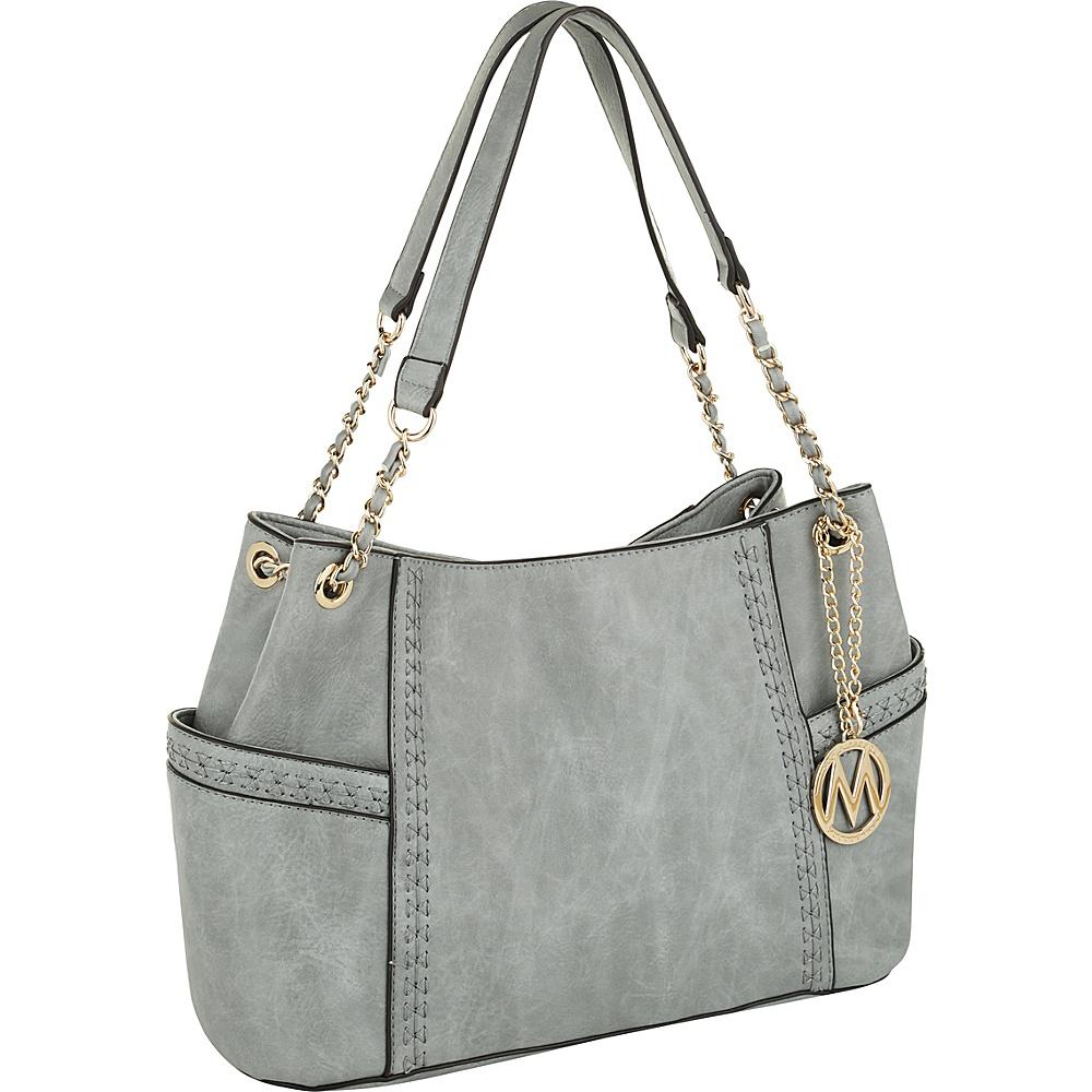 MKF Collection by Mia K. Farrow Britny Shoulder Bag Grey - MKF Collection by Mia K. Farrow Manmade Handbags - Handbags, Manmade Handbags