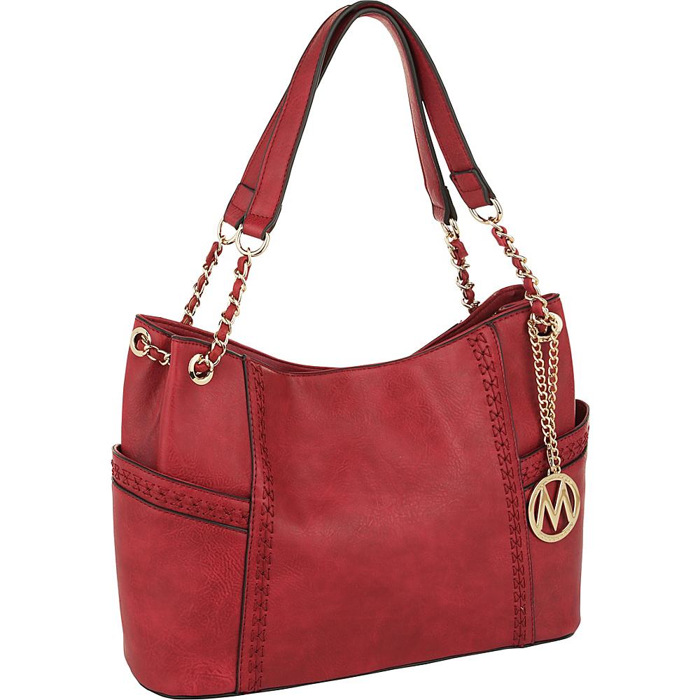 MKF Collection by Mia K. Farrow Britny Shoulder Bag Red - MKF Collection by Mia K. Farrow Manmade Handbags - Handbags, Manmade Handbags