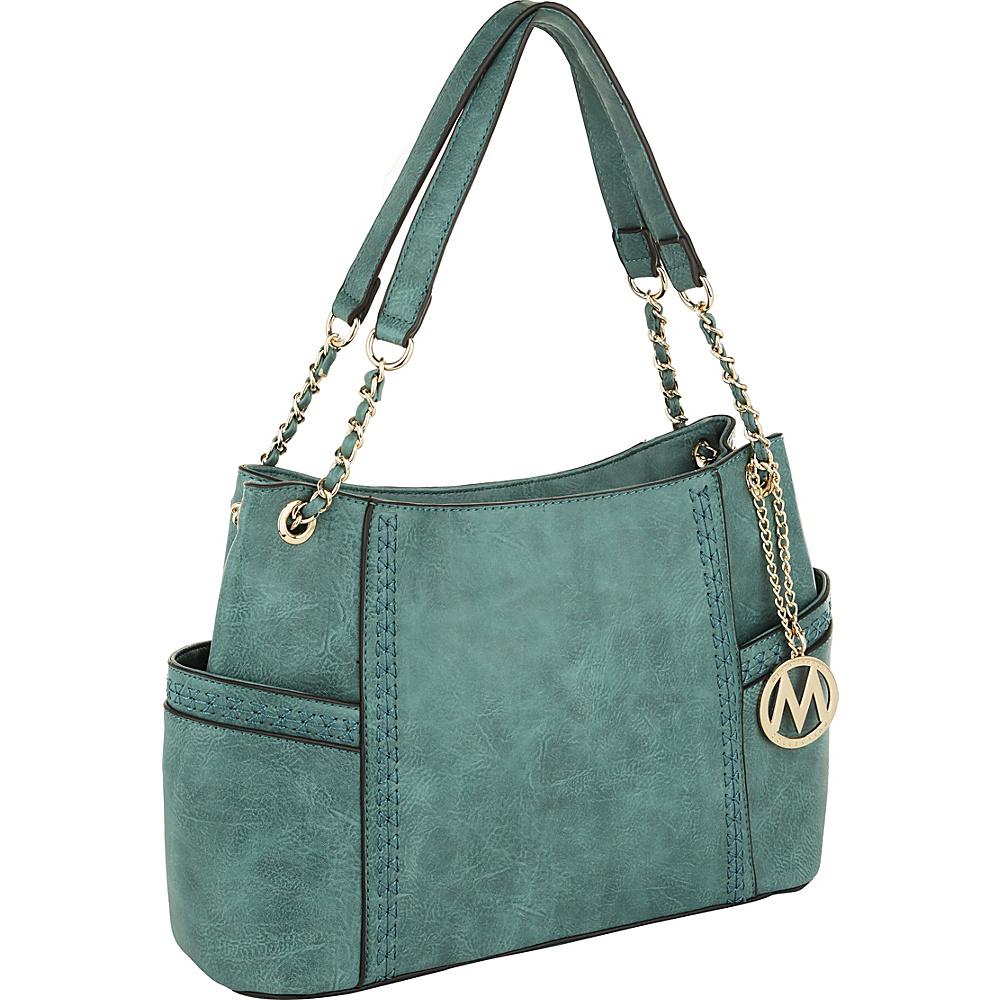 MKF Collection by Mia K. Farrow Britny Shoulder Bag Green - MKF Collection by Mia K. Farrow Manmade Handbags - Handbags, Manmade Handbags