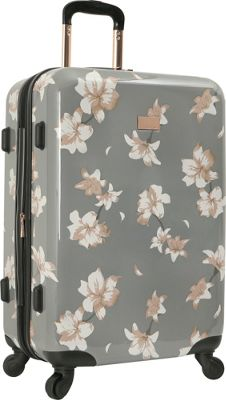 Vince Camuto Luggage Corinn 24 inch Expandable Hardside Spinner Checked Luggage Grey - Vince Camuto Luggage Hardside Checked