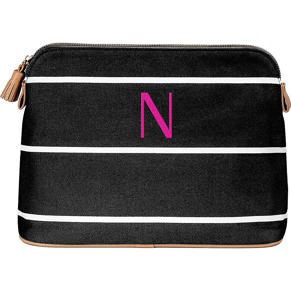 Cathys Concepts Monogram Cosmetic Bag Black - N - Cathys Concepts Toiletry Kits - Travel Accessories, Toiletry Kits