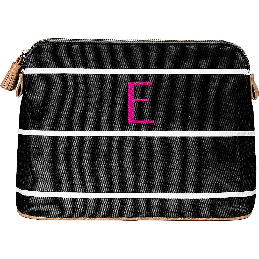 Cathys Concepts Monogram Cosmetic Bag Black - E - Cathys Concepts Toiletry Kits - Travel Accessories, Toiletry Kits