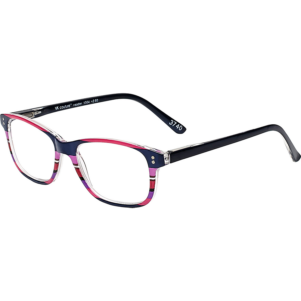 Select-A-Vision VK Couture Reading Glasses +1.25 - Pink Stripe - Select-A-Vision Sunglasses - Fashion Accessories, Sunglasses