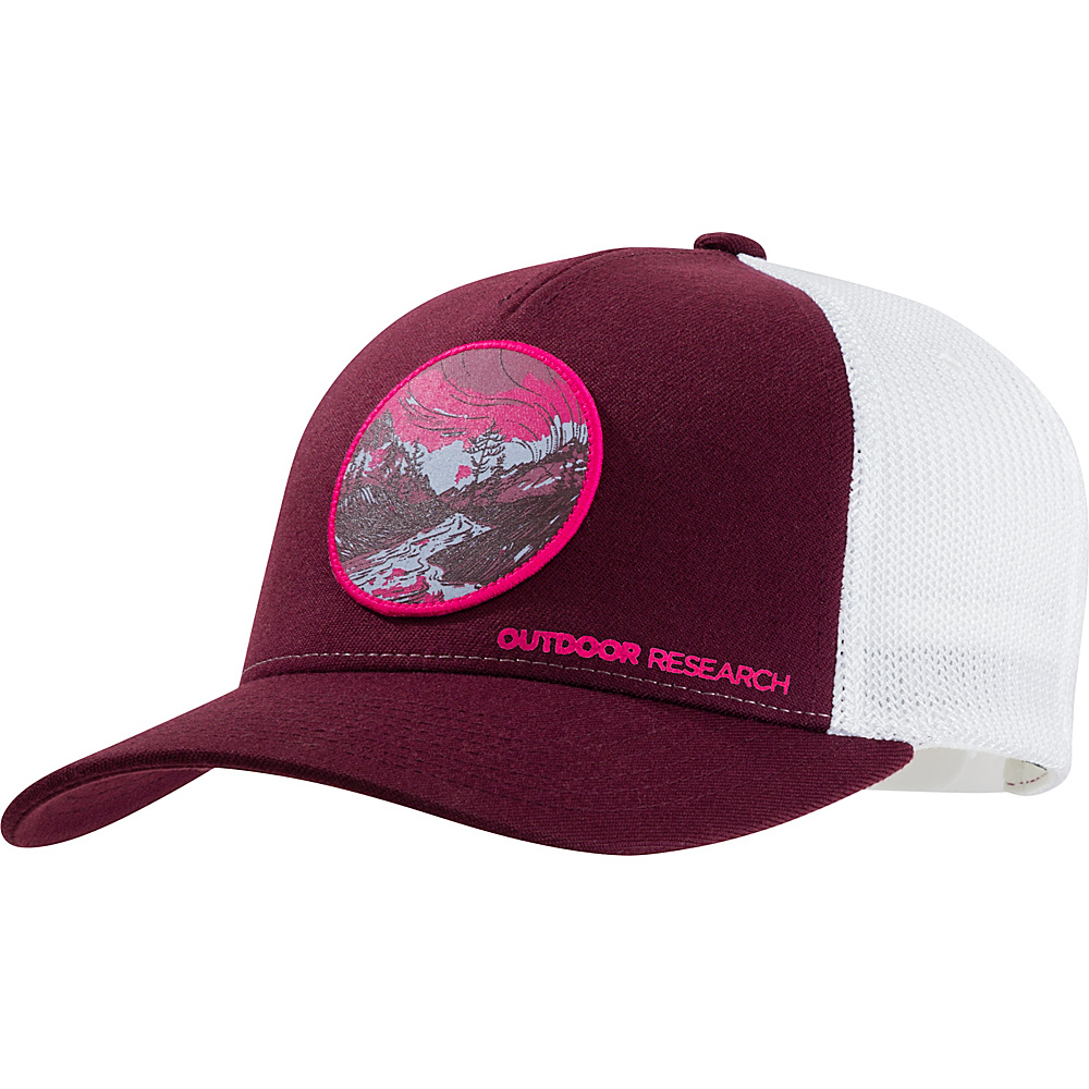 Outdoor Research Alpenglow Trucker Cap One Size - Pinot - Outdoor Research Hats/Gloves/Scarves - Fashion Accessories, Hats/Gloves/Scarves