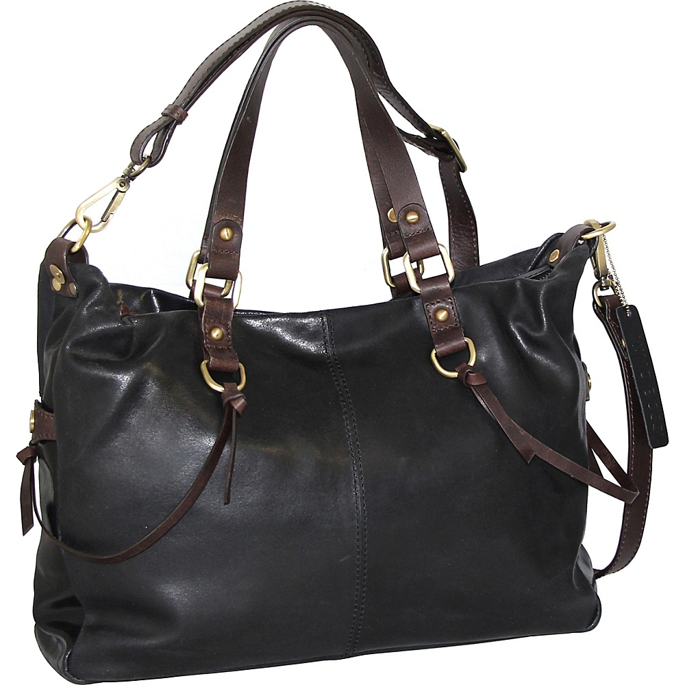 Nino Bossi Cailyn Satchel Black - Nino Bossi Leather Handbags - Handbags, Leather Handbags