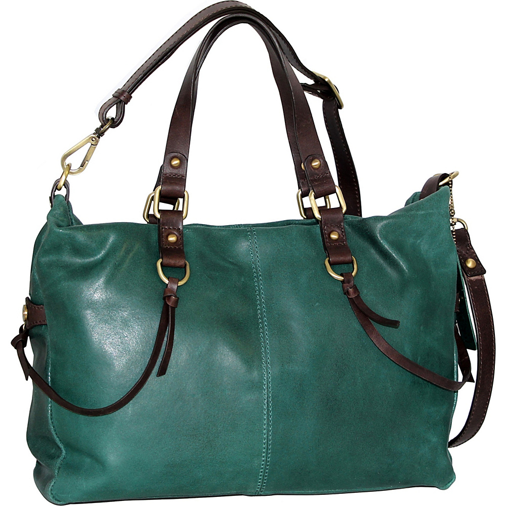 Nino Bossi Cailyn Satchel Green - Nino Bossi Leather Handbags - Handbags, Leather Handbags