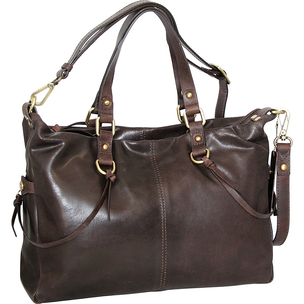 Nino Bossi Cailyn Satchel Brown - Nino Bossi Leather Handbags - Handbags, Leather Handbags