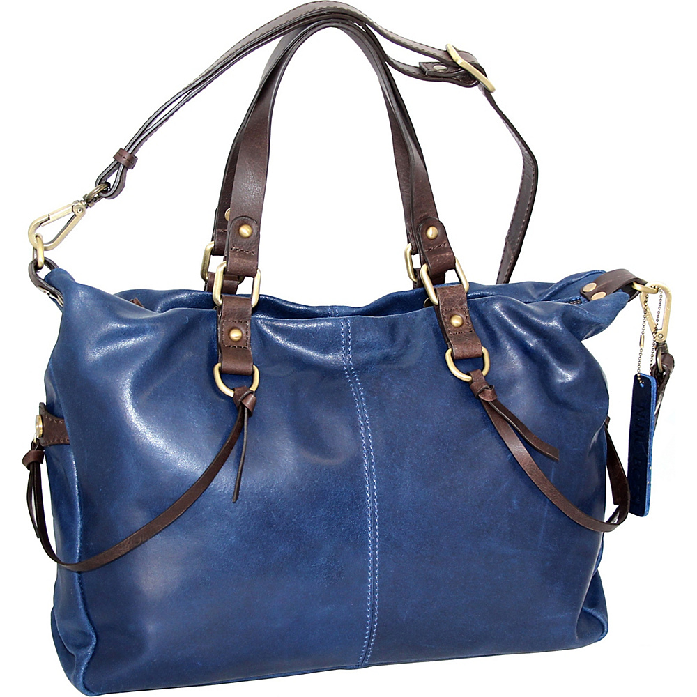 Nino Bossi Cailyn Satchel Denim - Nino Bossi Leather Handbags - Handbags, Leather Handbags